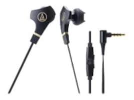 Audio-Technica SonicFuel In-Ear Headphone w  Mic, ATH-CKX7ISBK, 17672292, Headsets (w/ microphone)
