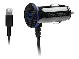 Kensington PowerBolt 3.4 Dual Port Fast Charge Car Charger, Lightning Connector, K39794WW, 16954870, Automobile/Airline Power Adapters