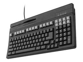 Unitech 104-Key USB POS Keyboard with Track I and II Magnetic Stripe Reader - Black (US), K2724U-B, 5878605, Keyboards & Keypads