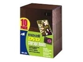 Maxell 10PK DVD-JC10 BLK FULL SIZE, 190801, 41059388, Media Storage Cases
