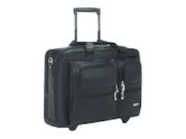 SOLO 15.4 Leather Rolling Laptop Case, Black, D957-4, 7822445, Carrying Cases - Notebook