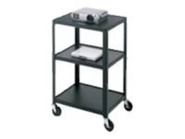 Bretford Manufacturing Adjustable AV Cart with 4 Casters, Green, A2642-PL, 9098913, Stands & Mounts - Desktop Monitors