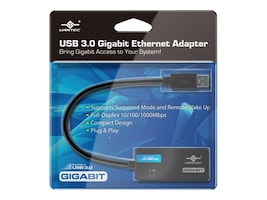 Vantec USB 3.0 to Gigabit Ethernet Networking Adapter, CB-U300GNA, 17433161, Network Adapters & NICs