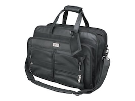 Tripp Lite Corporate Top Load Notebook Case, Leather Nylon, Black, NB1005BK, 6348892, Carrying Cases - Notebook