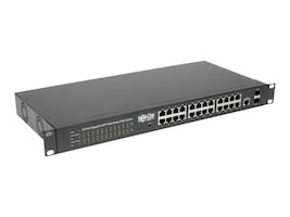 Tripp Lite 1U RM L2 Web-Smart Managed PoE+ Switch 24xGbE PoE+2xGbE SFP, NGS24C2POE, 34364523, Network Switches