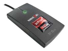 RF IDeas PcProx Plus Enroll with iCLASS ID Virtual COM Reader, Black, RDR-80081AK0, 32230855, Security Hardware