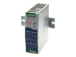 Black Box DIN Rail Power Supply, 120 Watts, 48VDC, SDR-120-48, 16224412, Power Supply Units (internal)