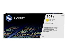 HP 508X Yellow LaserJet Toner Cartridge w  JetIntelligence for M552 M553 series, CF362X, 19054826, Toner and Imaging Components