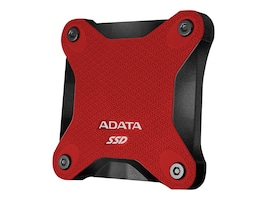 A-Data 256GB ASD600 External Solid State Drive - Red, ASD600-256GU31-CRD, 36352606, Solid State Drives - External
