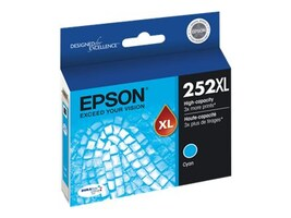 Epson Cyan 252XL High Capacity Ink Cartridge, T252XL220, 18868377, Ink Cartridges & Ink Refill Kits