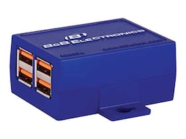B&B Electronics USB 2.0 4-port Hub, UH104, 16523631, USB & Firewire Hubs