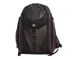 Mobile Edge 16 Express Backpack 2.0, Black w  Lavender Trim, MEBPE82, 35401470, Carrying Cases - Notebook