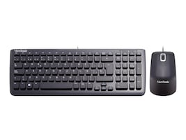 ViewSonic USB Keyboard and Mouse Bundle, Spanish Keyboard, Black, VMP10B_KM1ES05, 31466428, Keyboard/Mouse Combinations