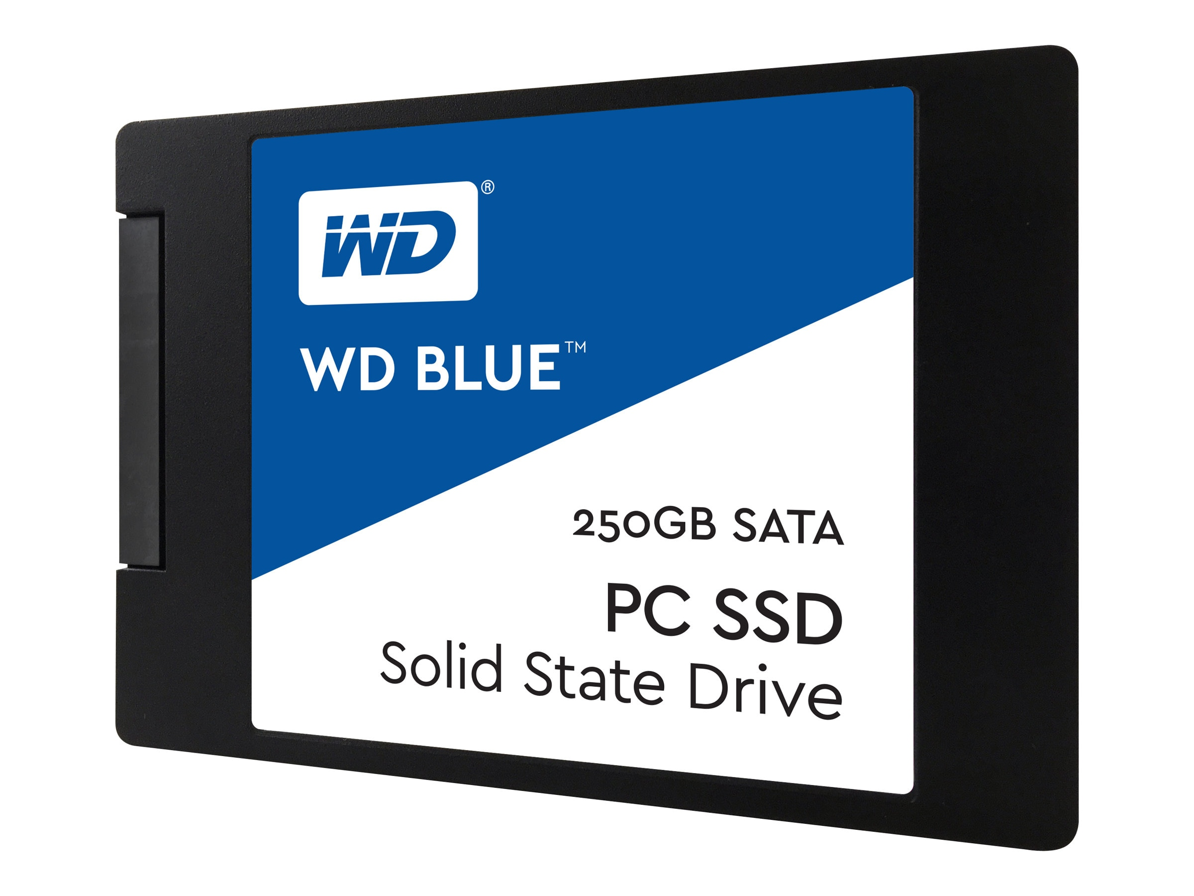 WD 250GB WD Blue SATA 6Gb s 2.5 7mm Cased Internal Solid State Drive, WDS250G1B0A, 32961973, Solid State Drives - Internal