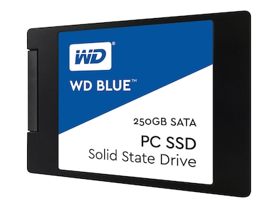 WD 250GB WD Blue SATA 6Gb s 2.5 7mm Cased Internal Solid State Drive, WDS250G1B0A, 32961973, Solid State Drives - Internal
