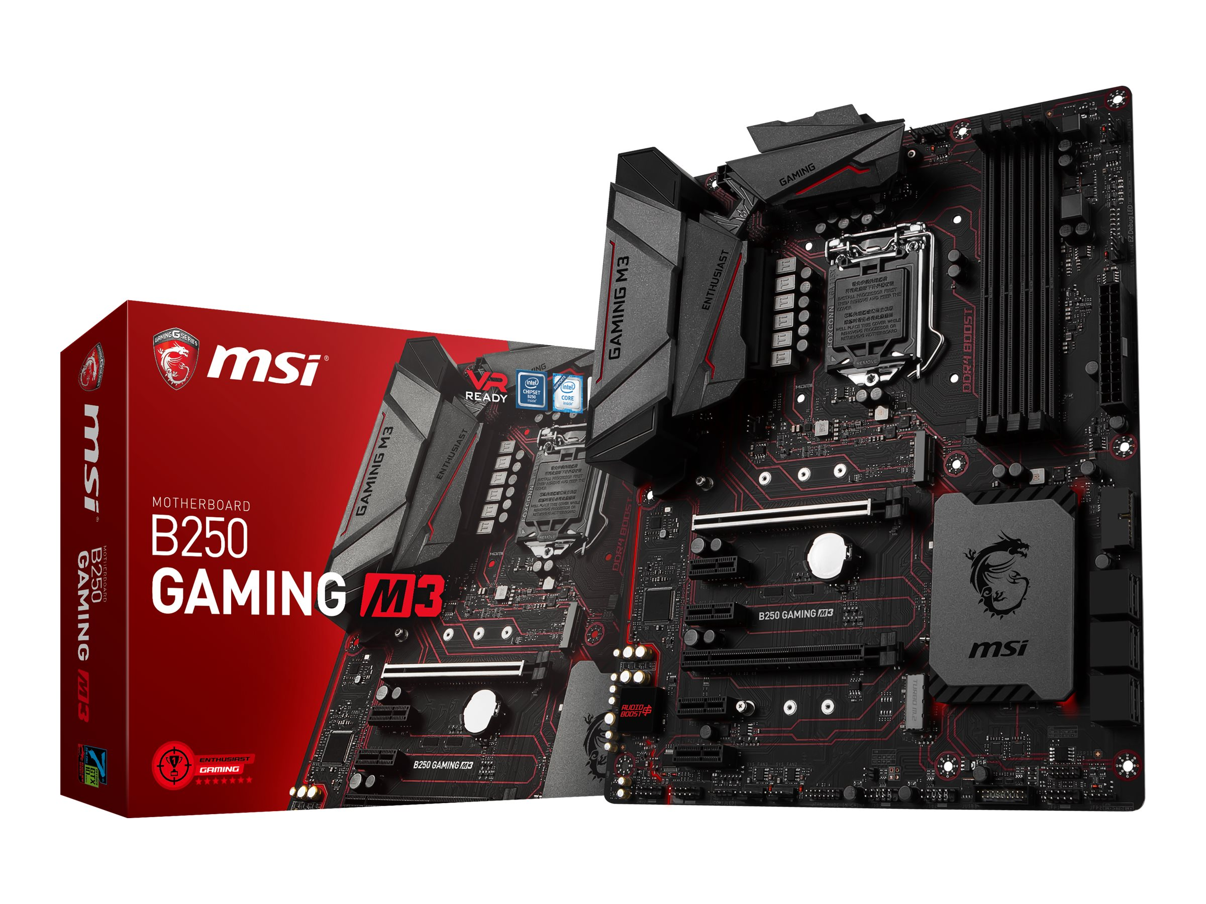 Microstar Motherboard, B250 Gaming M3, B250 GAMING M3, 33561349, Motherboards