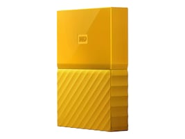 WD 4TB My Passport USB 3.0 Portable Hard Drive - Yellow, WDBYFT0040BYL-WESN, 32484901, Hard Drives - External