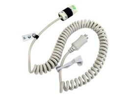 Ergotron Coiled AC Extension Cord, Beige, 8ft, 97-464, 8533573, Power Cords