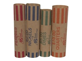 Royal Sovereign 1008 Quarter Preform Wrappers Pack (Federal Reserve & ABA Compliant), FSW-1008Q, 35164363, Paper, Labels & Other Print Media