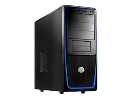 Cooler Master Chassis, Elite 311B Mid Tower ATX 7x3.5 Bays 3x5.25 Bays 7xSlots, RC-311B-BKN1, 30886789, Cases - Systems/Servers