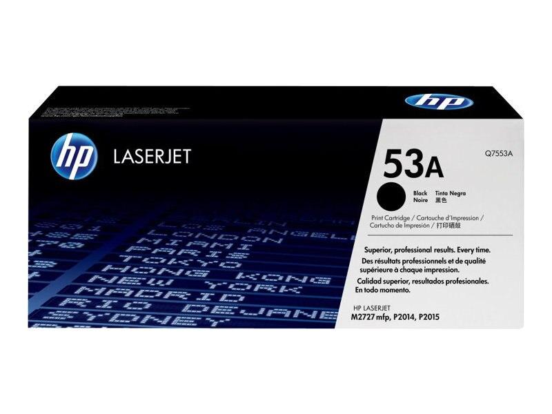 HP 53A (Q7553A) Black Original LaserJet Toner Cartridge for HP LaserJet P2015 & M2727nf, Q7553A, 7260737, Toner and Imaging Components