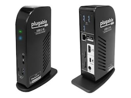 Plugable USB-C Triple 4K Docking Station, UD-ULTC4K, 35256364, Docking Stations & Port Replicators