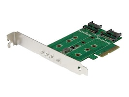 StarTech.com 3-port M.2 SSD Card SATA Adapter, PEXM2SAT32N1, 32580417, Drive Mounting Hardware