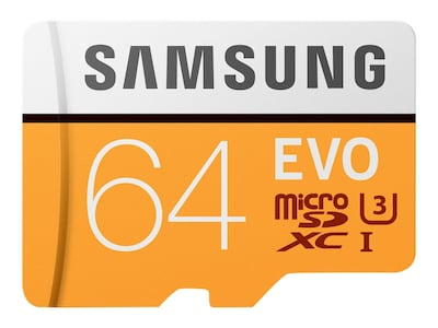 Samsung 64GB EVO MicroSDXC Card with SD Adapter, MB-MP64GA/AM, 33749510, Memory - Flash