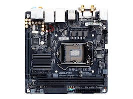 Gigabyte Tech Motherboard, Mini-ITX H170 LGA1151 Core i7 i5 i3 Family Max.32GB DDR4 6xSATA 2xGbE ac BT, GA-H170N-WIFI, 30688846, Motherboards