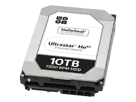 HGST 10TB UltraStar He10 SATA 6Gb s 4Kn ISE 3.5 Internal Hard Drive, 0F27502, 31747191, Hard Drives - Internal