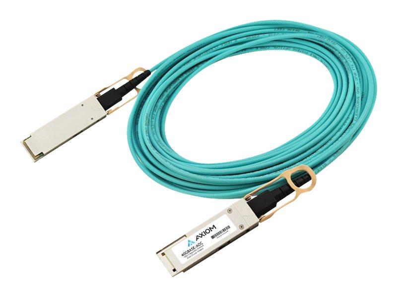 Axiom 40GBASE-AOC QSFP+ Active Optical Cable, 7m, MSA (QSFP-40GB-AOC7M-AX)