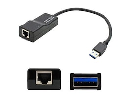 Add On RJ-45 to USB 3.0 F M Adapter, Black, 4X90E51405-AO, 33585949, Network Adapters & NICs
