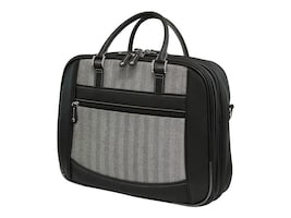 Mobile Edge 16 ScanFast Herringbone Element Briefcase, Large, MESFEBHL, 35401648, Carrying Cases - Notebook