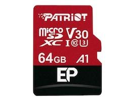 Patriot Memory 64GB Micro SDXC EP V30 A1 Flash Memory Card, PEF64GEP31MCX, 36053702, Memory - Flash