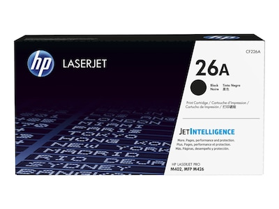 HP 26A (CF226A) Black Original LaserJet Toner Cartridge w  JetIntelligence for HP LaserJet Pro M402, CF226A, 30686111, Toner and Imaging Components