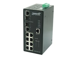 Transition 8 Port 10 100BTX 2 Port Dual PoE Hi Temp Industrial Rated PoE Switch, SISPM1040-182D-LRT, 9232983, Network Switches