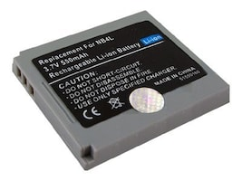 BTI Battery, Lithium-Ion, 3.7 Volts, 550mAh, for Digital Camera, BTI-CNNB4L, 8443130, Batteries - Camera