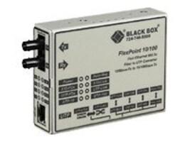 Black Box FlexPoint Modular Media Converter, 100BASE-TX to 100BASE-FX, 1300-nm, MM, 2 km, Full-Duplex, LMC213A-MMSC-R2, 6304996, Network Transceivers