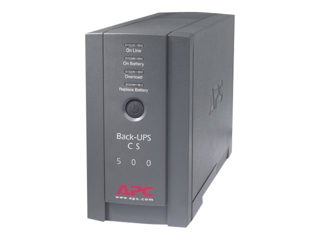 APC Back-UPS CS 500VA Standby UPS 120VAC Input Output (6) 5-15R Outlets, BK500BLK, 223879, Battery Backup/UPS