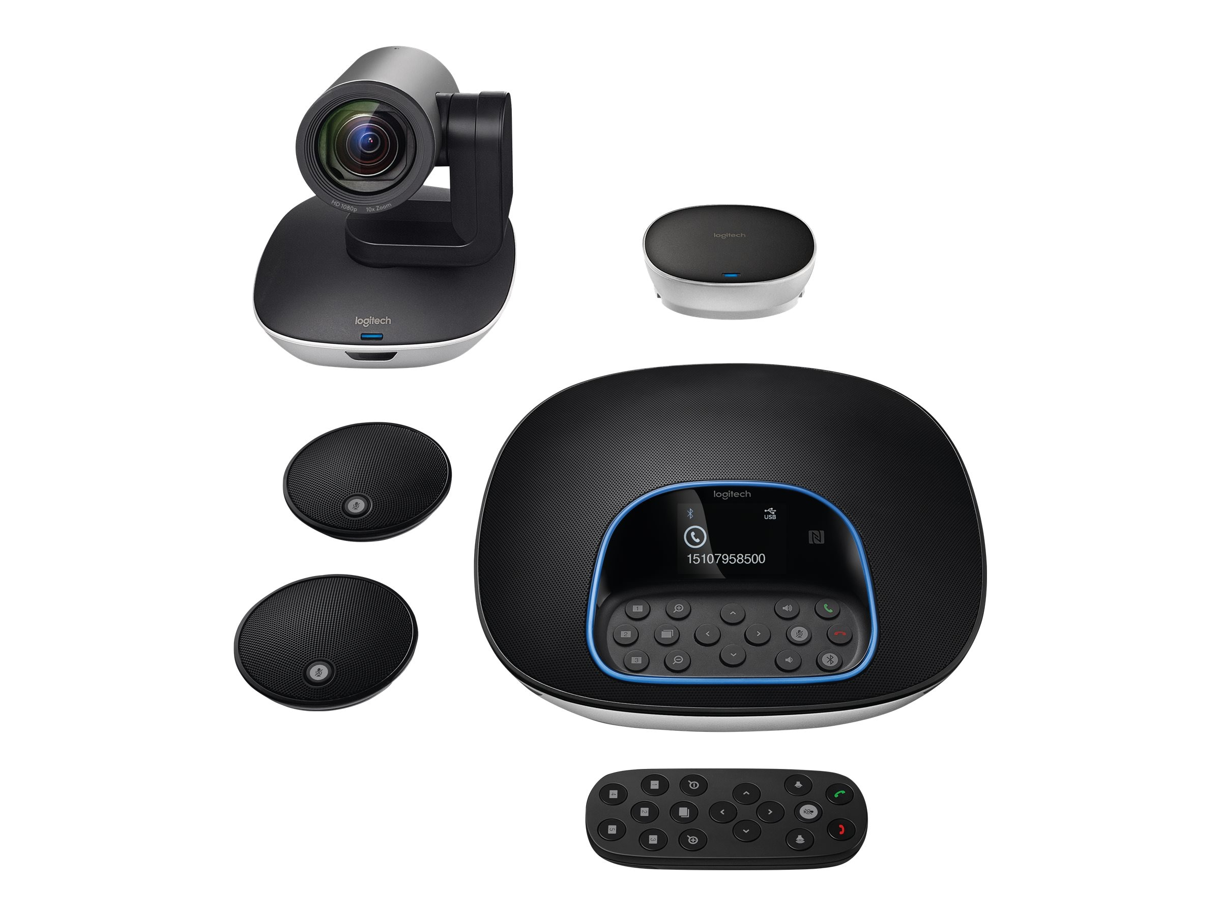 Logitech Group Video Conferencing Collaboration System with Expansion Mics, 960-001060, 31462902, Audio/Video Conference Hardware