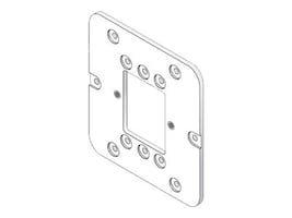HPE Aruba AP-103H Mount Plate for Dual-Gang Electrical Data Wall-Box, JW037A, 32962722, Mounting Hardware - Network