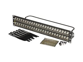 Ortronics Shielded 48-Port Cat6a Patch Panel, Flat, PHDTKS6A48, 33743572, Patch Panels