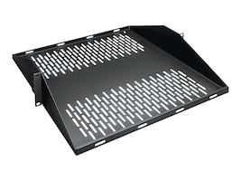 Black Box Vented Center-Weight Shelf, 50lbs Capacity, Black, RMTS08, 12122558, Rack Mount Accessories