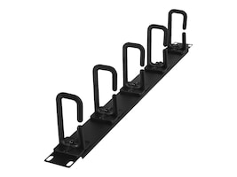 CyberPower Carbon Rack Cable Management 1U 2 Deep Flexible Ring Cable Manager, CRA30004, 33221088, Rack Cable Management
