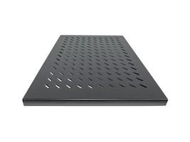 Intellinet 1U 19 Fixed Shelf, 27.5 Depth, Black, 712545, 35154181, Rack Mount Accessories