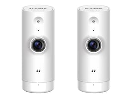 D-Link Mini HD Wi-Fi Camera, White, 2-Pack, DCS-8000LH/2PK-US, 34360872, Cameras - Security