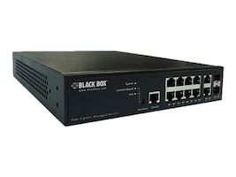 Black Box 10-Port LPB2900 Series Gigabit PoE+ Managed Switch with MediaCento Controller, LPB2910A, 33707168, Network Switches
