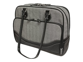 Mobile Edge 16 Classic Heringbone Laptop Tote, MEWHCL, 35401672, Carrying Cases - Notebook