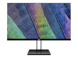 AOC 23.8 24V2H Full HD LED-LCD Monitor, Black, 24V2H, 36206756, Monitors