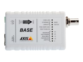 Axis Ethernet over Coax Base PoE+ Adapter, 5028-411, 15022974, Network Transceivers